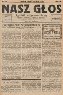 Nasz Głos : tygodnik polityczno-społeczny. 1928, nr23