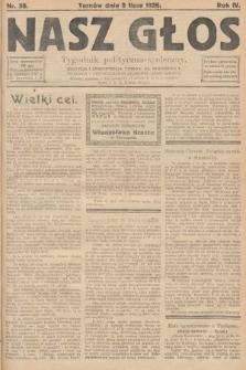 Nasz Głos : tygodnik polityczno-społeczny. 1928, nr28