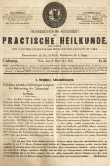 Oesterreichische Zeitschrift für Practische Heikunde. 1855, nr50