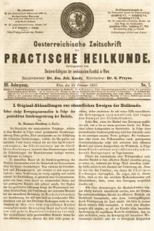 Oesterreichische Zeitschrift für Practische Heikunde. 1857, nr7