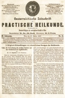Oesterreichische Zeitschrift für Practische Heikunde. 1857, nr42