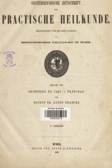 Oesterreichische Zeitschrift für Practische Heikunde : herausgegeben von dem Doctoren - Collegium der Medicinischen Facultät in Wien. 1860, indeksy