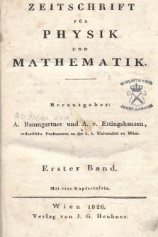 Zeitschrift für Physik und Mathematik. Bd. 1, 1826, [Heft1]
