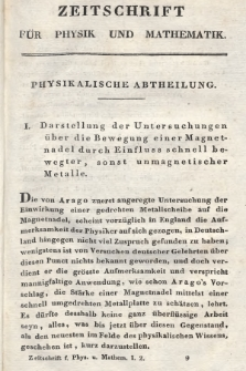 Zeitschrift für Physik und Mathematik. Bd. 1, 1826, [Heft2]
