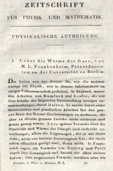 Zeitschrift für Physik und Mathematik. Bd. 2, 1827, [Heft3]