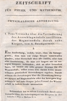 Zeitschrift für Physik und Mathematik. Bd. 2, 1827, [Heft4]