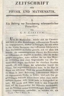 Zeitschrift für Physik und Mathematik. Bd. 3, 1827, [Heft2]
