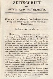Zeitschrift für Physik und Mathematik. Bd. 3, 1827, [Heft3]