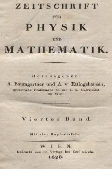 Zeitschrift für Physik und Mathematik. Bd. 4, 1828, Inhalt heft 1-4