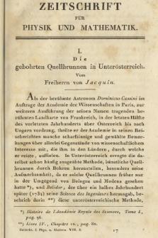 Zeitschrift für Physik und Mathematik. Bd. 8, 1830, [Heft3]