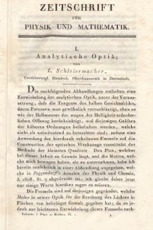 Zeitschrift für Physik und Mathematik. Bd. 9, 1831, [Heft1]