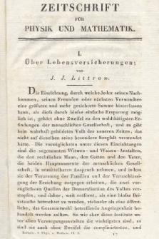 Zeitschrift für Physik und Mathematik. Bd. 9, 1831, [Heft3]