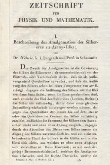 Zeitschrift für Physik und Mathematik. Bd. 9, 1831, [Heft4]