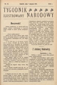 Tygodnik Narodowy Ilustrowany. 1910, nr32