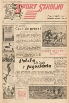 Sport Szkolny. 1938, nr5