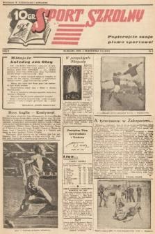 Sport Szkolny. 1938, nr8