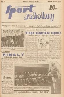 Sport Szkolny. 1939, nr54
