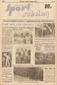 Sport Szkolny. 1939, nr72