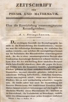 Zeitschrift für Physik und Mathematik. Bd. 6, 1829, [Heft 1]