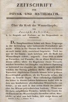 Zeitschrift für Physik und Mathematik. Bd. 6, 1829, [Heft 3]