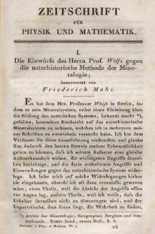 Zeitschrift für Physik und Mathematik. Bd. 6, 1829, [Heft 4]