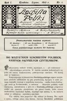 Szachista Polski : miesięcznik poświęcony sprawom szachowym. 1912, nr1