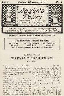 Szachista Polski : miesięcznik poświęcony sprawom szachowym. 1912, nr3