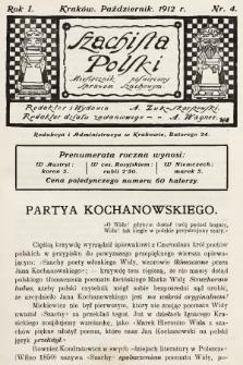 Szachista Polski : miesięcznik poświęcony sprawom szachowym. 1912, nr4