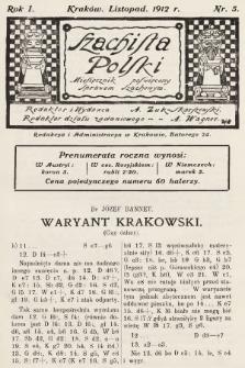 Szachista Polski : miesięcznik poświęcony sprawom szachowym. 1912, nr5