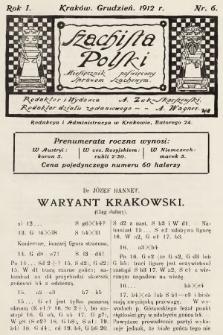 Szachista Polski : miesięcznik poświęcony sprawom szachowym. 1912, nr6