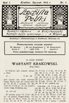 Szachista Polski : miesięcznik poświęcony sprawom szachowym. 1913, nr7