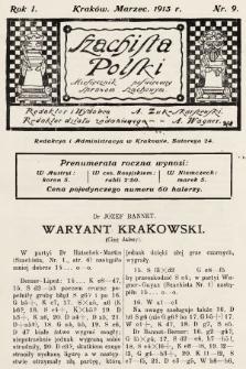 Szachista Polski : miesięcznik poświęcony sprawom szachowym. 1913, nr9