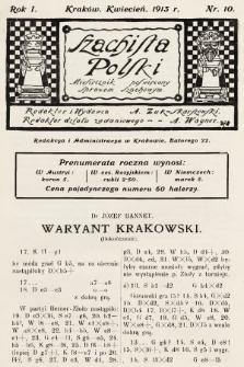 Szachista Polski : miesięcznik poświęcony sprawom szachowym. 1913, nr10
