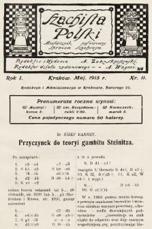 Szachista Polski : miesięcznik poświęcony sprawom szachowym. 1913, nr11