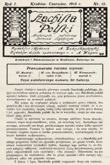 Szachista Polski : miesięcznik poświęcony sprawom szachowym. 1913, nr12