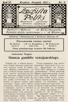 Szachista Polski : miesięcznik poświęcony sprawom szachowym. 1913, nr2