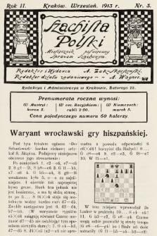 Szachista Polski : miesięcznik poświęcony sprawom szachowym. 1913, nr3