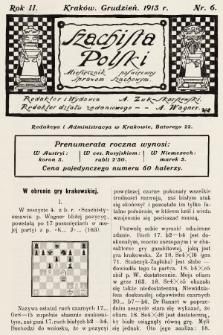 Szachista Polski : miesięcznik poświęcony sprawom szachowym. 1913, nr6
