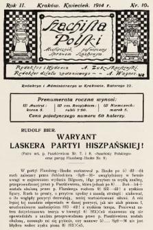 Szachista Polski : miesięcznik poświęcony sprawom szachowym. 1914, nr10