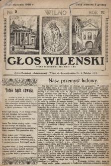 Głos Wileński : pismo tygodniowe dla miast i wsi. 1926, nr2