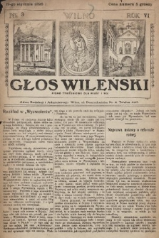 Głos Wileński : pismo tygodniowe dla miast i wsi. 1926, nr3