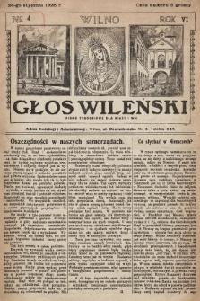 Głos Wileński : pismo tygodniowe dla miast i wsi. 1926, nr4