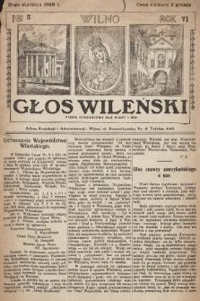 Głos Wileński : pismo tygodniowe dla miast i wsi. 1926, nr5