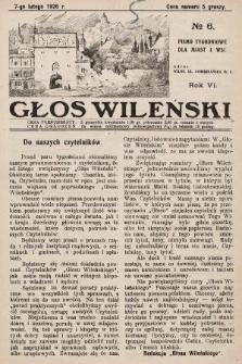 Głos Wileński : pismo tygodniowe dla miast i wsi. 1926, nr6