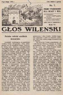 Głos Wileński : pismo tygodniowe dla miast i wsi. 1926, nr7