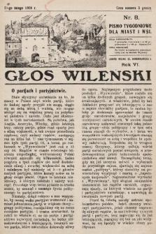 Głos Wileński : pismo tygodniowe dla miast i wsi. 1926, nr8