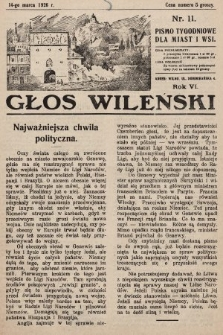 Głos Wileński : pismo tygodniowe dla miast i wsi. 1926, nr11