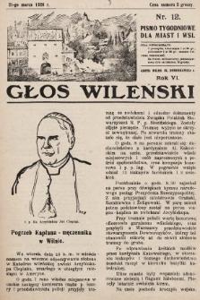 Głos Wileński : pismo tygodniowe dla miast i wsi. 1926, nr12