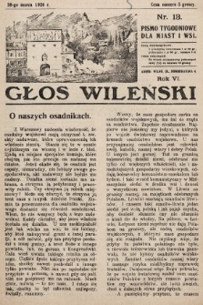 Głos Wileński : pismo tygodniowe dla miast i wsi. 1926, nr13