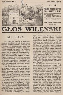 Głos Wileński : pismo tygodniowe dla miast i wsi. 1926, nr14